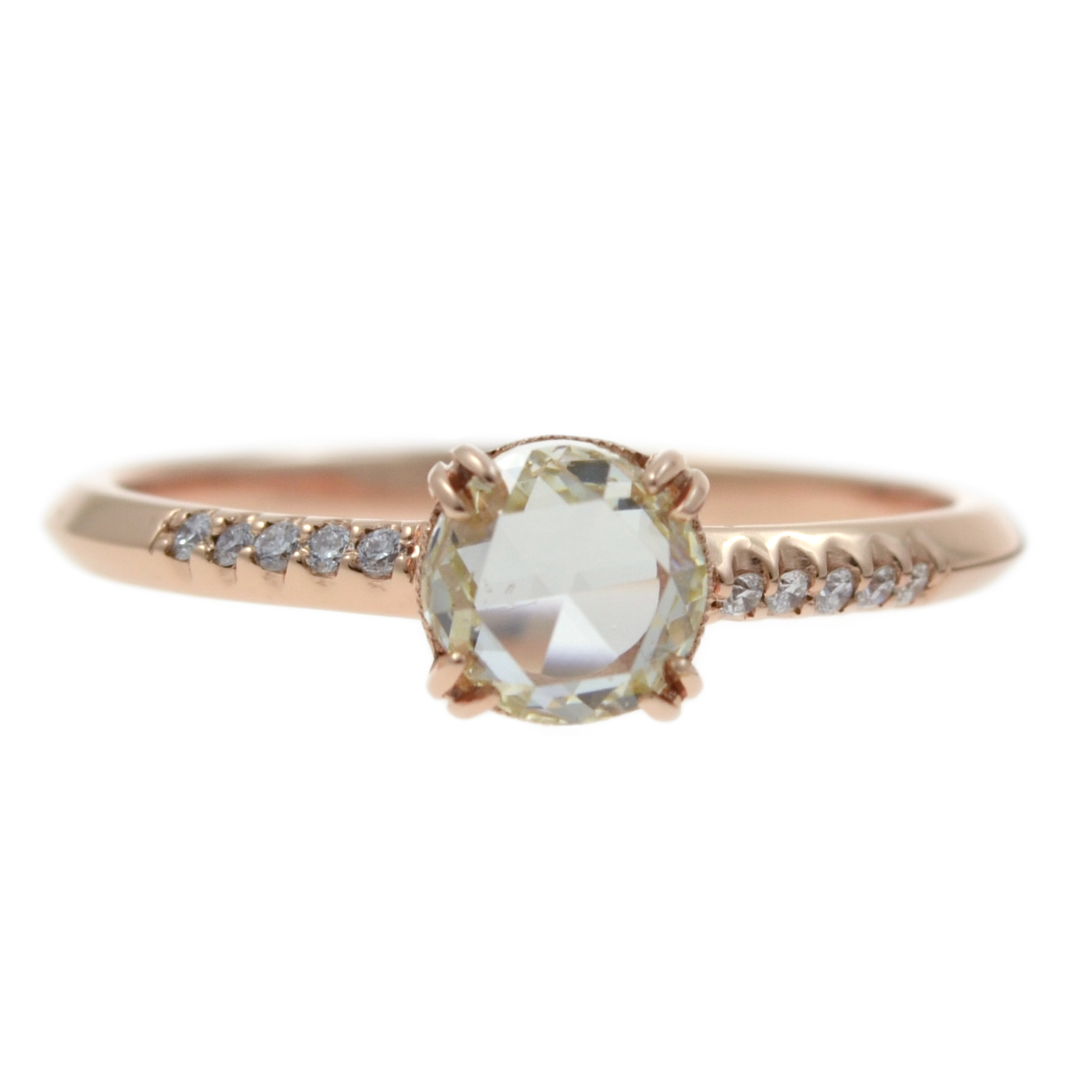 pin cut engagement petite with stunning delicate and milgrain ring vintage diamonds grey diamond rose a rings